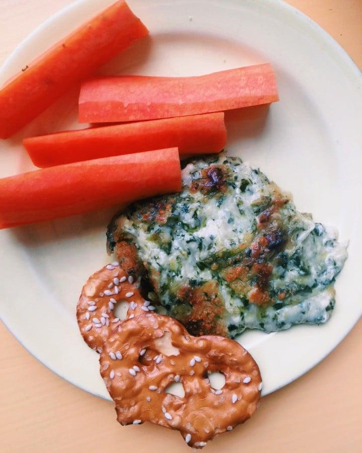 Hot Cheesy Scallion Kale Dip / Katie Workman themom100
