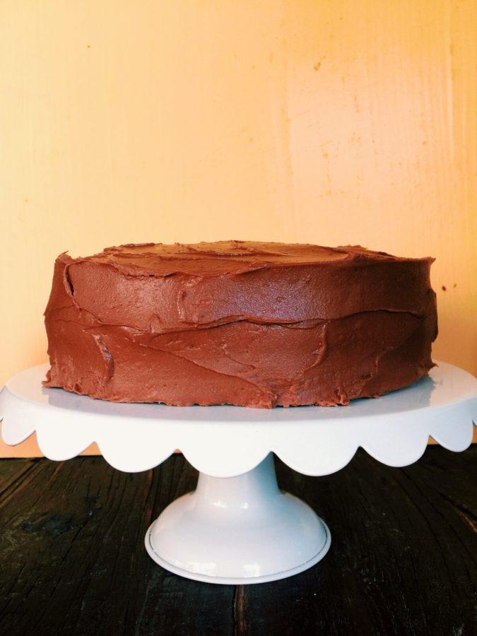 One Bowl Simple Vanilla Layer Cake / Katie Workman / themom100.com