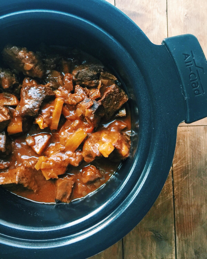 Slow Cooker Barbecue Beer Beef Stew / Katie Workman themom100.com