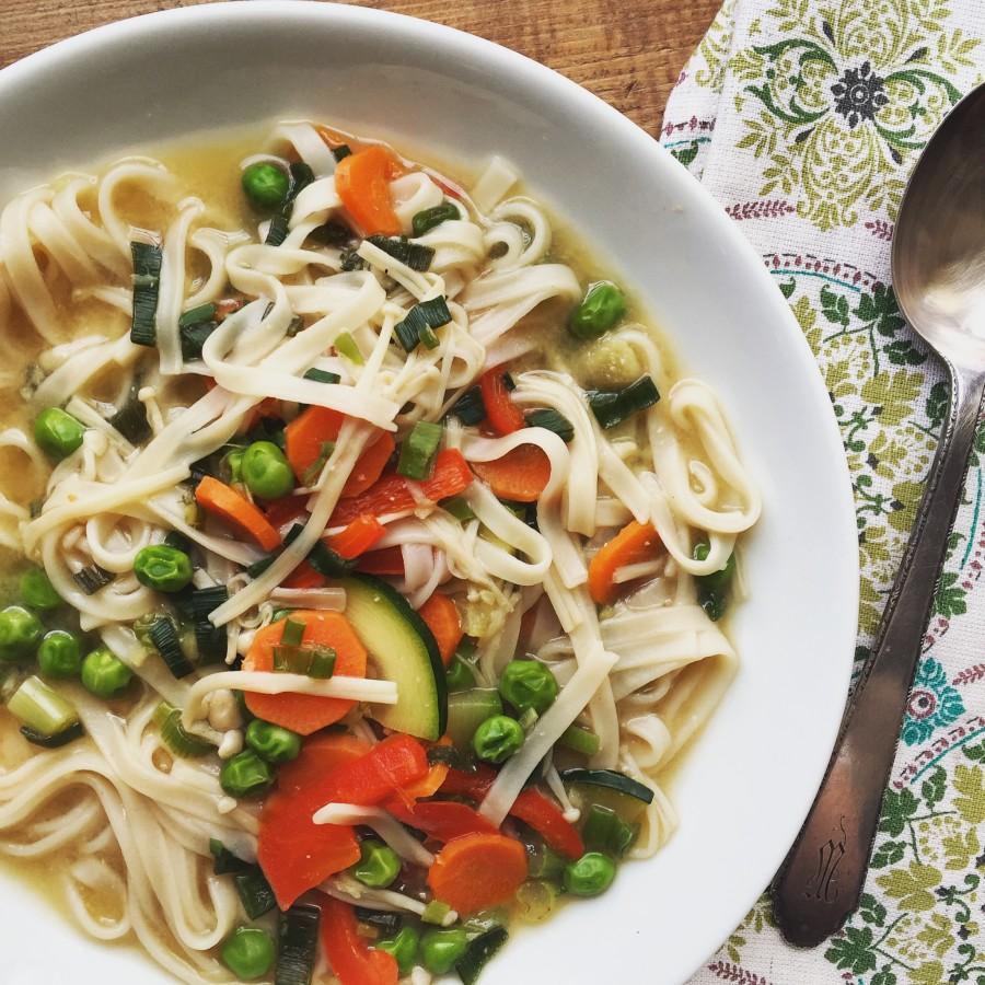 Vegetable Udon Noodle Soup / Katie Workman themom100.com