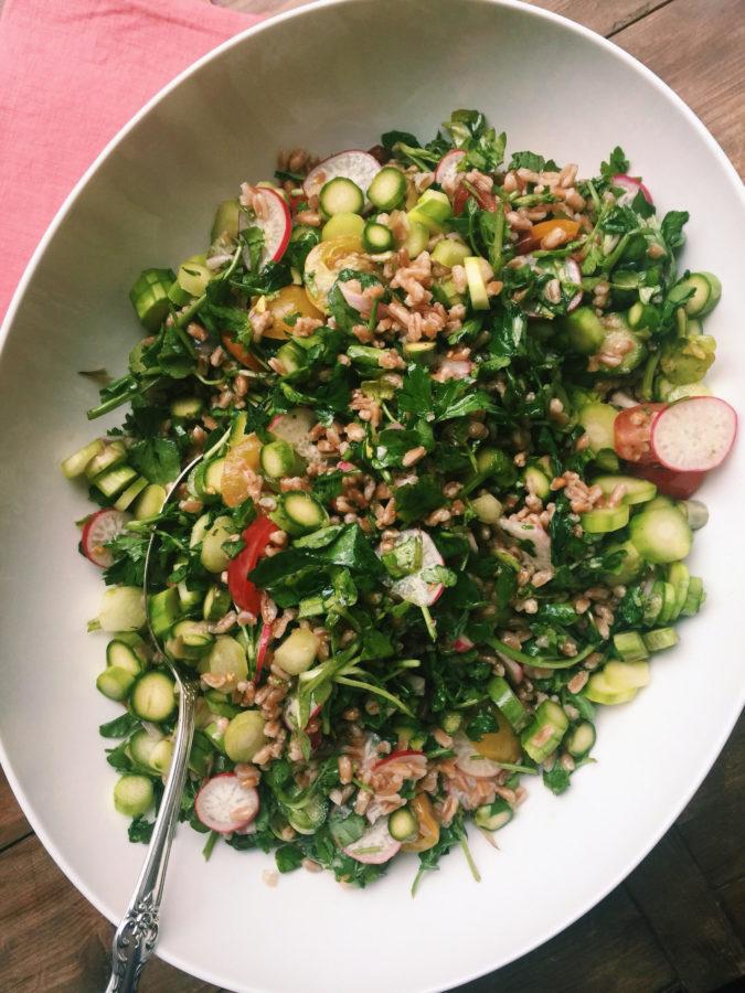 Farro and Vegetable Salad / Katie Workman / themom100.com
