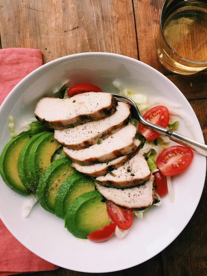 Grilled Chicken Salad / Katie Workman themom100.com