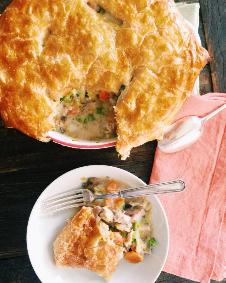 Spring chicken and vegetable potpie casserole the mom 100 the mom 100 spring chicken and vegetable pot pie casserole katie workman themom100 forumfinder Choice Image