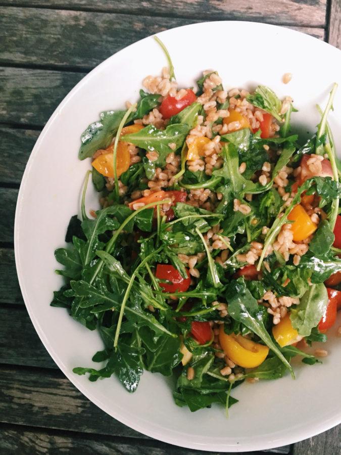 Farro and Tomato Salad / Katie Workman / themom100.com