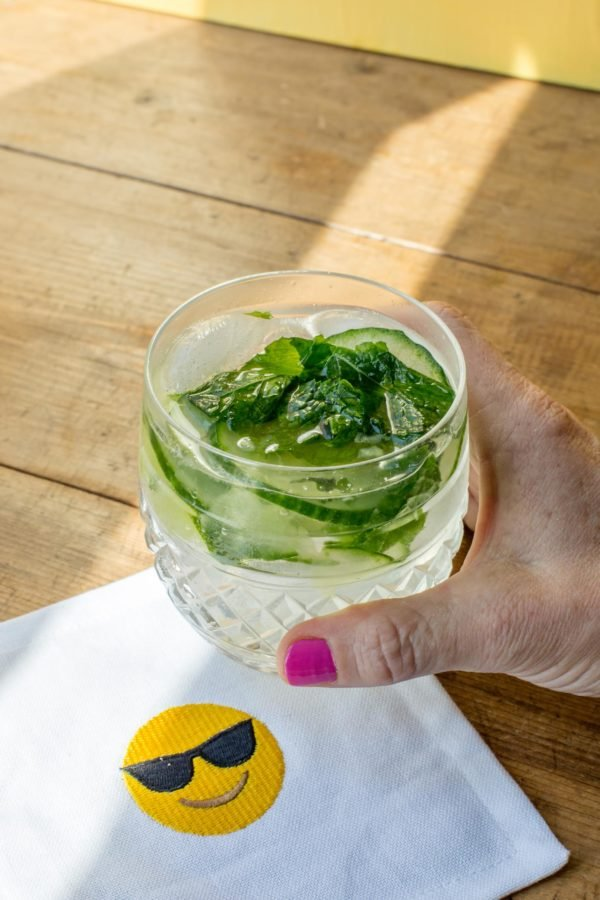 Cucumber Mint Gin and Tonic / Sarah Crowder / Katie Workman / themom100.com