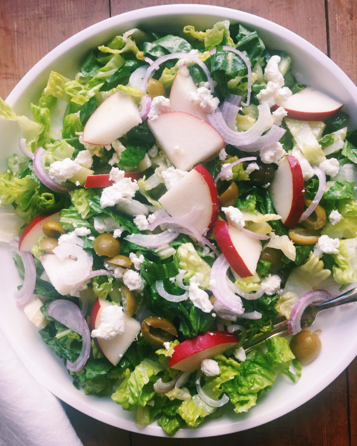 Romaine, Pear and Goat Cheese Salad / Katie Workman / themom100.com