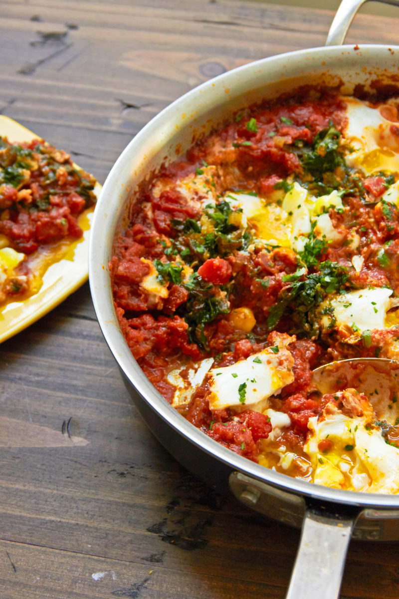 Shakshuka with Swiss Chard / Mia / Katie Workman / themom100.com