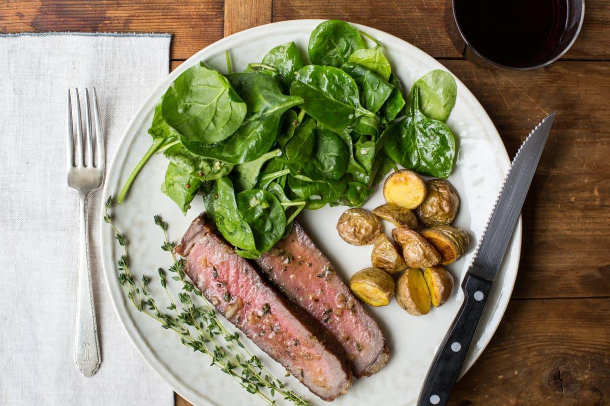 Rib Eye Steaks with Thyme-Garlic Butter / Sarah Crowder / Katie Workman / themom100.com
