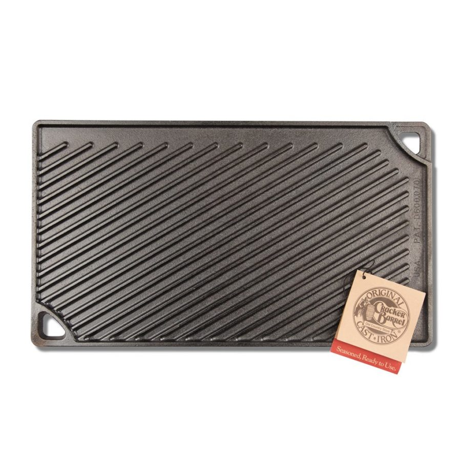 Cracker Barrel Reversible Lodge Cast Iron Griddle / Cracker Barrel