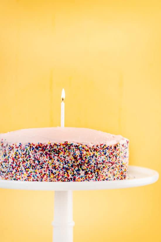 One Bowl Simple Vanilla Layer Cake / Photo by Cheyenne Cohen / Katie Workman / themom100.com
