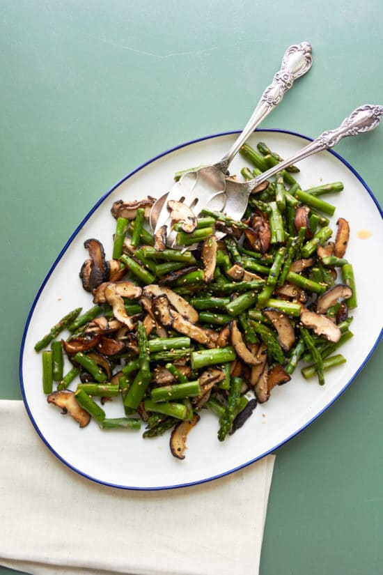Sesame Asparagus and Shiitake Mushrooms / Photo by Mia / Katie Workman / themom100.com