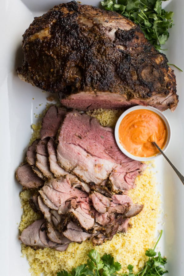Slow Cooked Moroccan Leg of Lamb / Sarah Crowder / Katie Workman / themom100.com