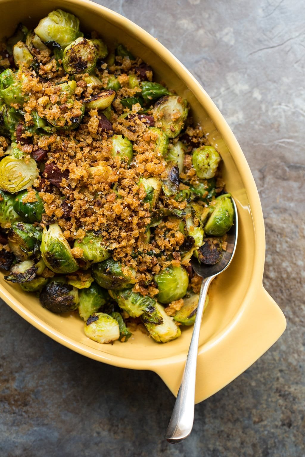 Pan Roasted Brussels Sprouts with Chorizo and Toasted ...