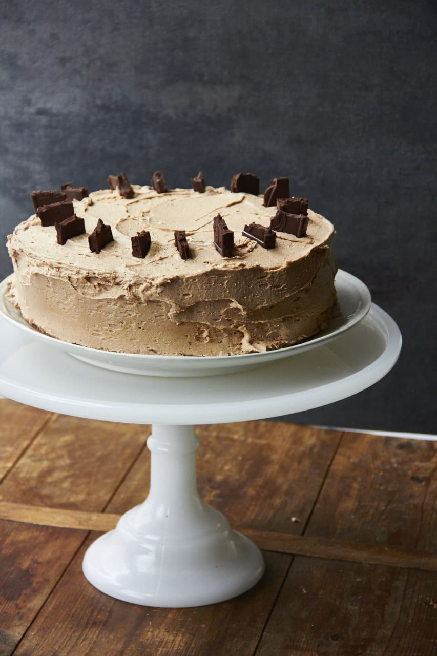 Rich Vanilla Cake with Chocolate Espresso Buttercream The ...
