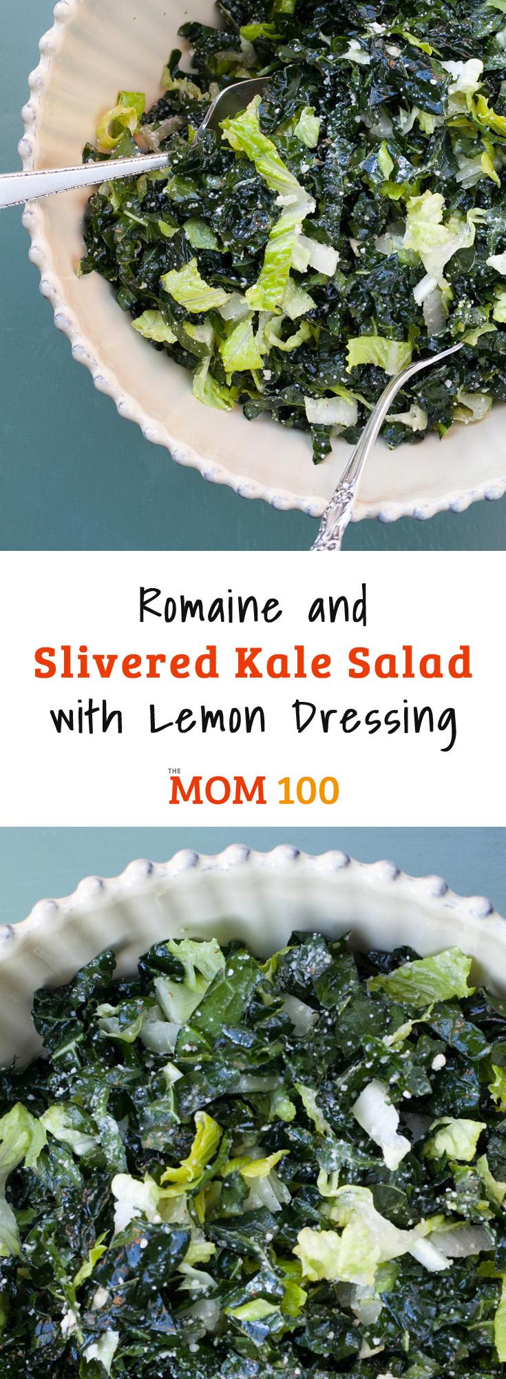 Romaine and Slivered Kale Salad with Lemon Dressing