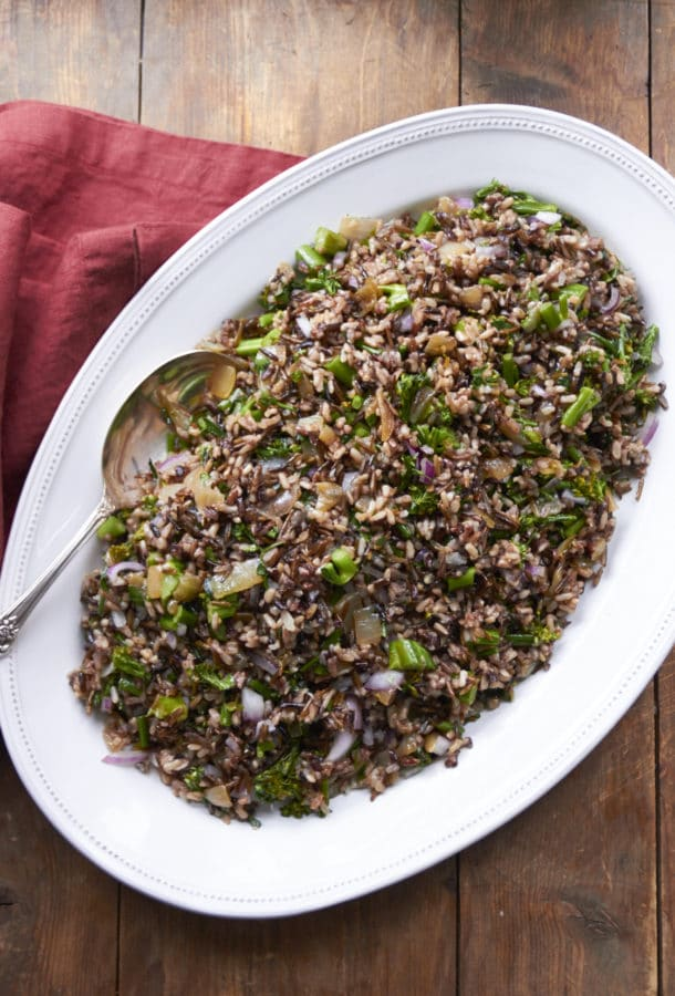 Wild Rice and Broccolini Salad / Mia / Katie Workman / themom100.com