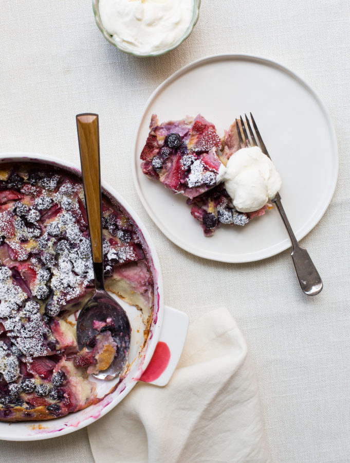 Summer Berry Clafoutis with Whipped Cream / Sarah Crowder / Katie Workman / themom100.com