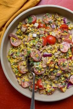 Summer Corn, Tomato and Bacon Salad / Sarah Crowder / Katie Workman / themom100.com