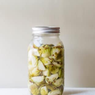 Pickled Brussels sprouts / Sarah Crowder / Katie Workman / themom100.com