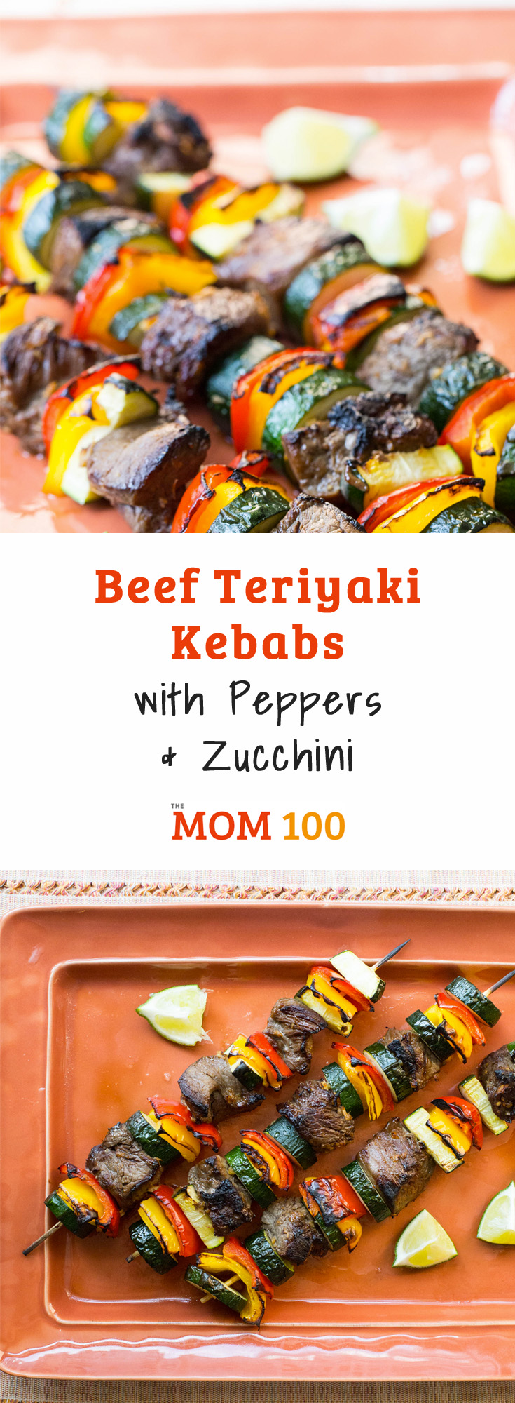 Beef Teriyaki Kebabs with Peppers and Zucchini