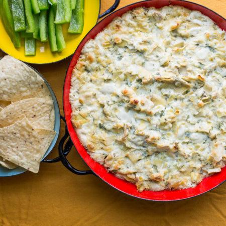 Spicy Cheesy Artichoke Dip / Sarah Crowder / Katie Workman / themom100.com