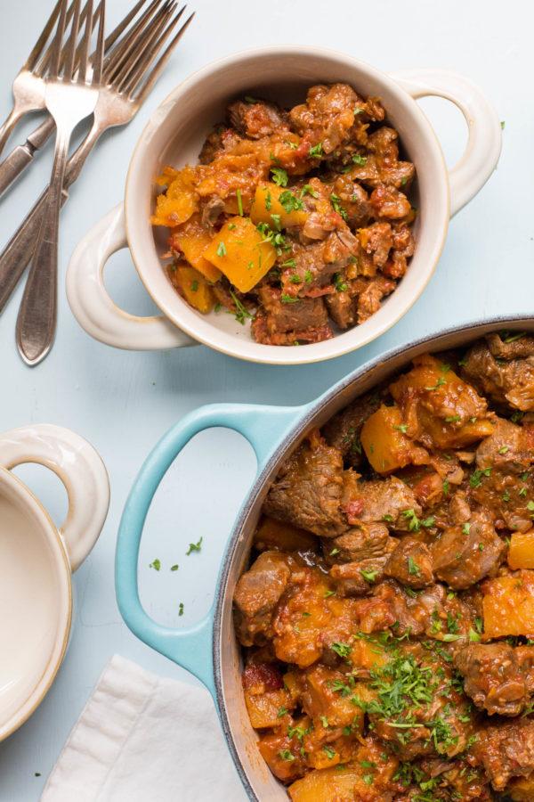 Moroccan Lamb and Butternut Squash Stew / Sarah Crowder / Katie Workman / themom100.com