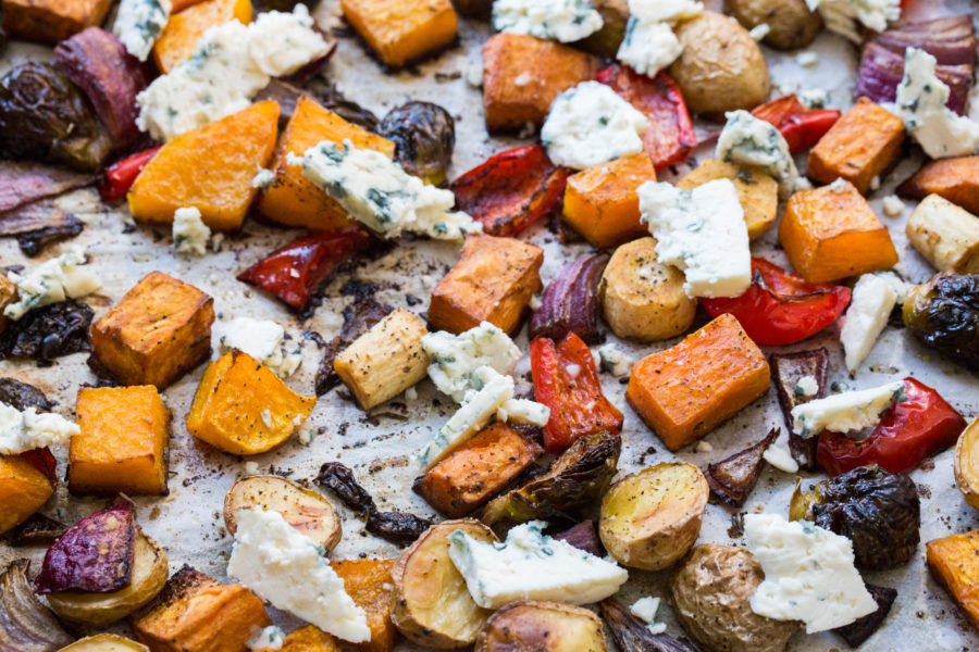 Roasted Vegetables with Blue Cheese / Sarah Crowder / Katie Workman / themom100.com