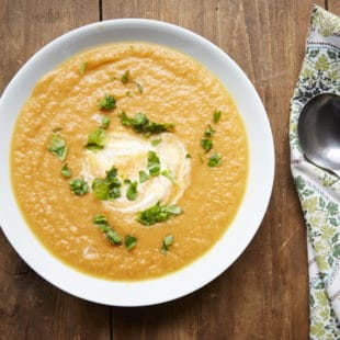 Moroccan Carrot and Cauliflower Soup / Evi Abeler / Katie Workman / themom100.com