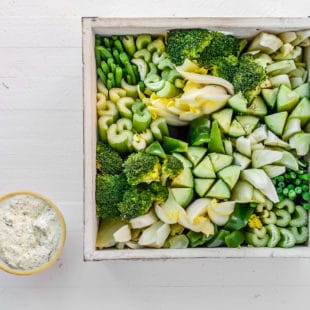 All-Green Crudités Basket / Carrie Crow