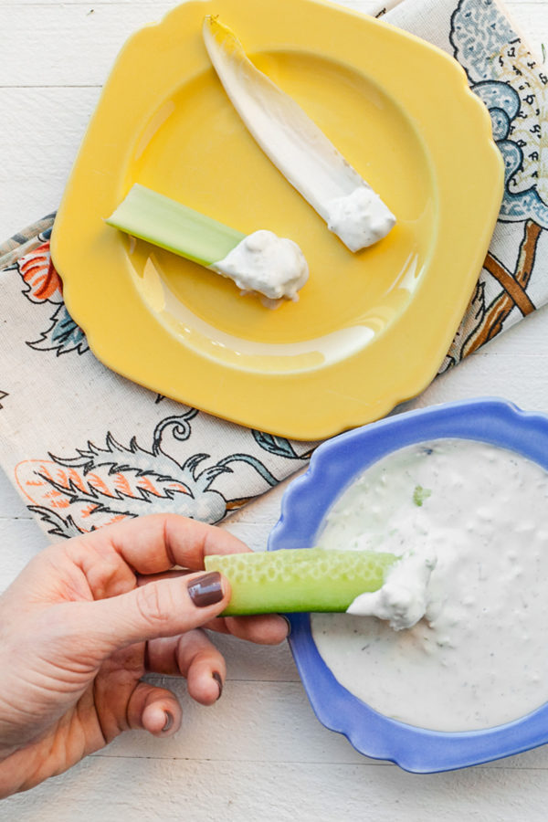 Blue Cheese Dip / Carrie Crow / Katie Workman / themom100.com
