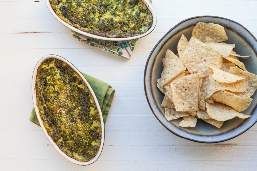 Hot, Creamy Spinach and Goat Cheese Dip / Carrie Crow / Katie Workman / themom100.com