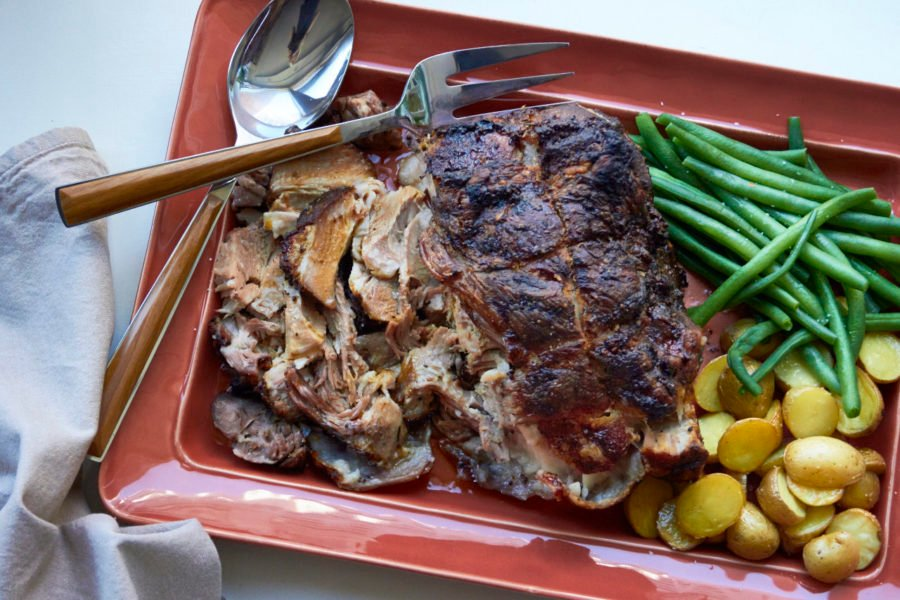 Fall Apart Roasted Pork Shoulder with Rosemary, Mustard and Garlic / Katie Workman / themom100.com