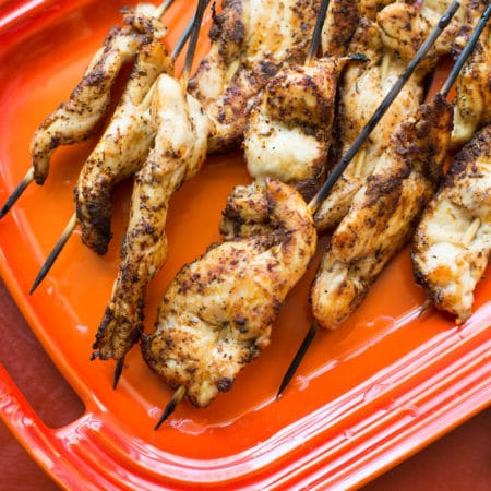 Chicken Tender Skewers with Spiced Curry Rub / Sarah Crowder / Katie Workman / themom100.com