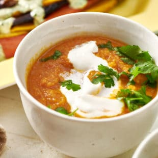 Moroccan Carrot and Cauliflower Soup