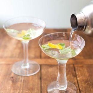 Basil Ginger Lemon Saketini / Katie Workman / mom100.com