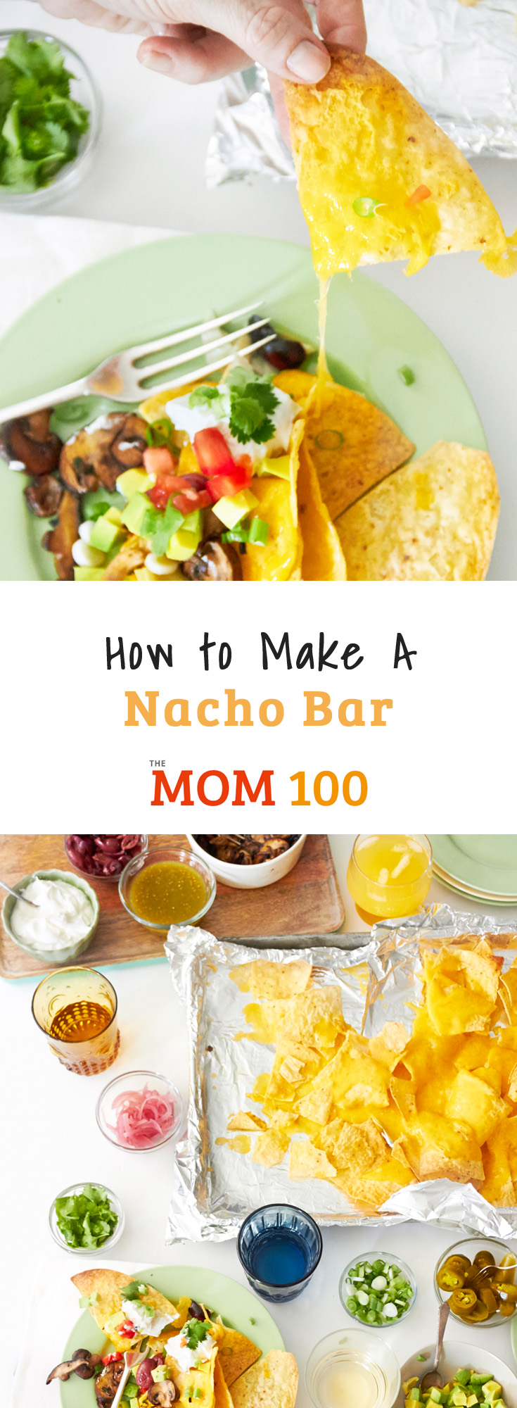 How to Make a Nacho Bar: It's Nacho Night with plenty of toppings for the ultimate nacho experience at a party or movie night. The possible combinations are endless.