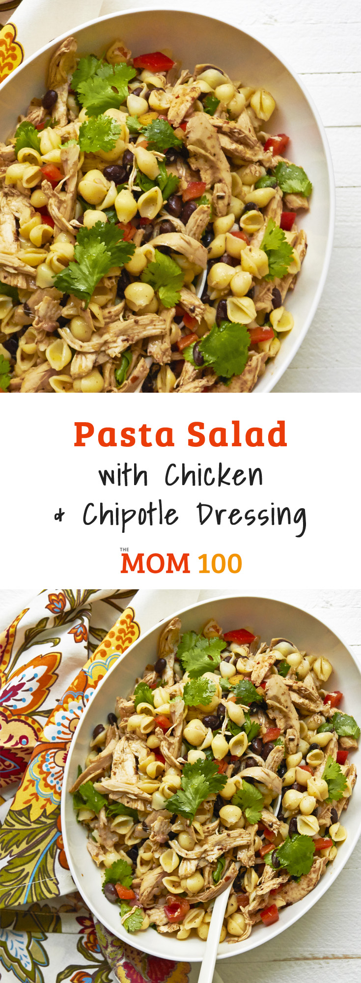 Pasta Salad with Chicken and Chipotle Dressing