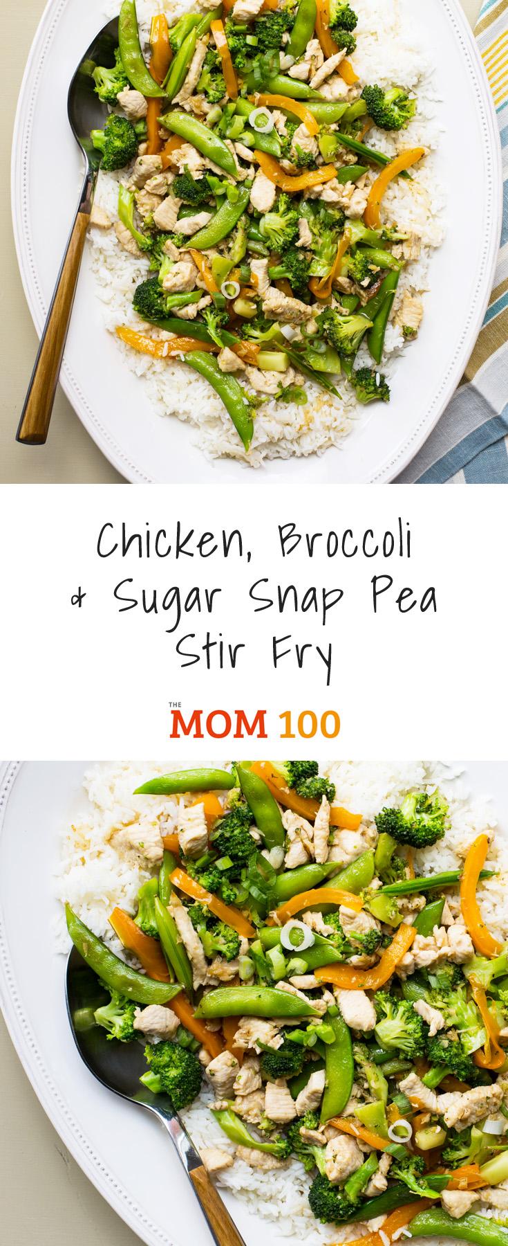 Chicken, Broccoli, and Sugar Snap Pea Stir Fry