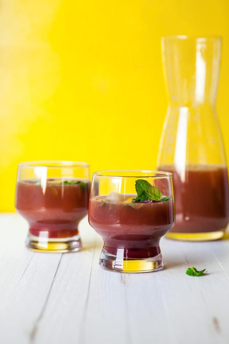 Pomegranate Orange Mocktail with Mint / Carrie Crow / Katie Workman / themom100.com