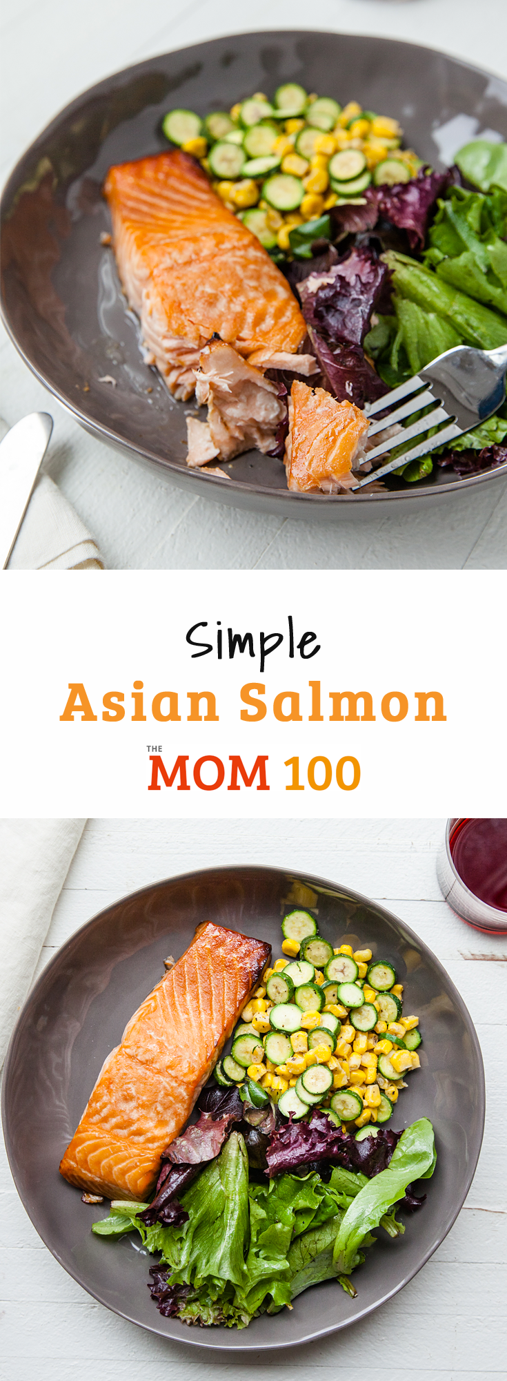 A simple Asian salmon dish that makes everyone happy—including the cook. Check out how easy it is—4 ingredients, plus the salmon.