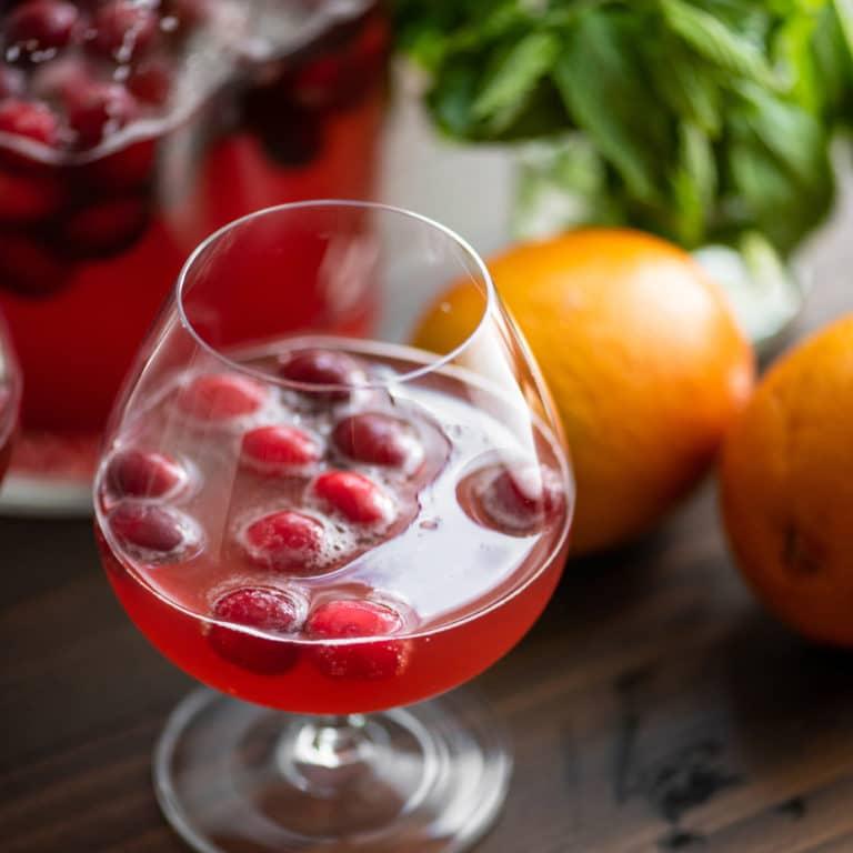 Cranberry Orange Shrub / Katie Workman / themom100.com / Photo by Cheyenne Cohen