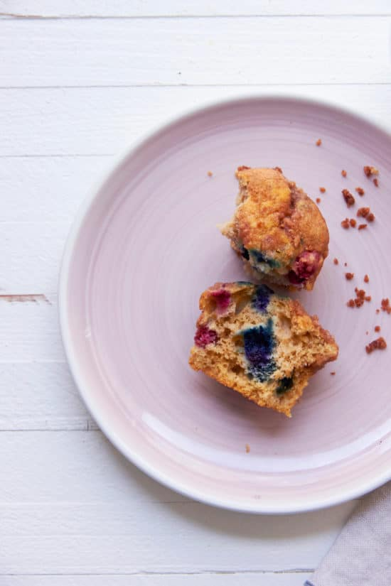 Blueberry Muffins / Katie Workman / themom100.com / Photo by Mia