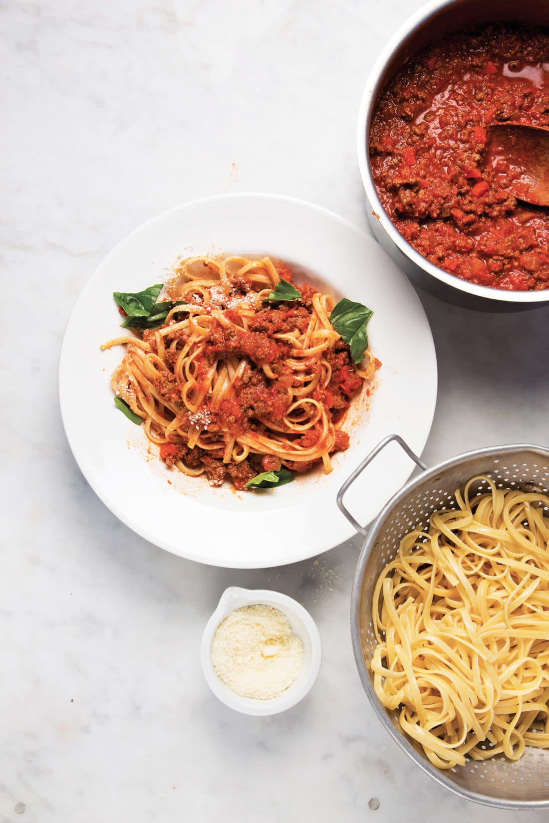 Bolognese Sauce / Katie Workman / themom100.com / Photo by Todd Coleman