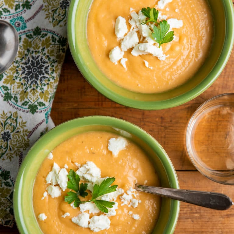 Creamy Rutabaga, Carrot and Parsnip Soup