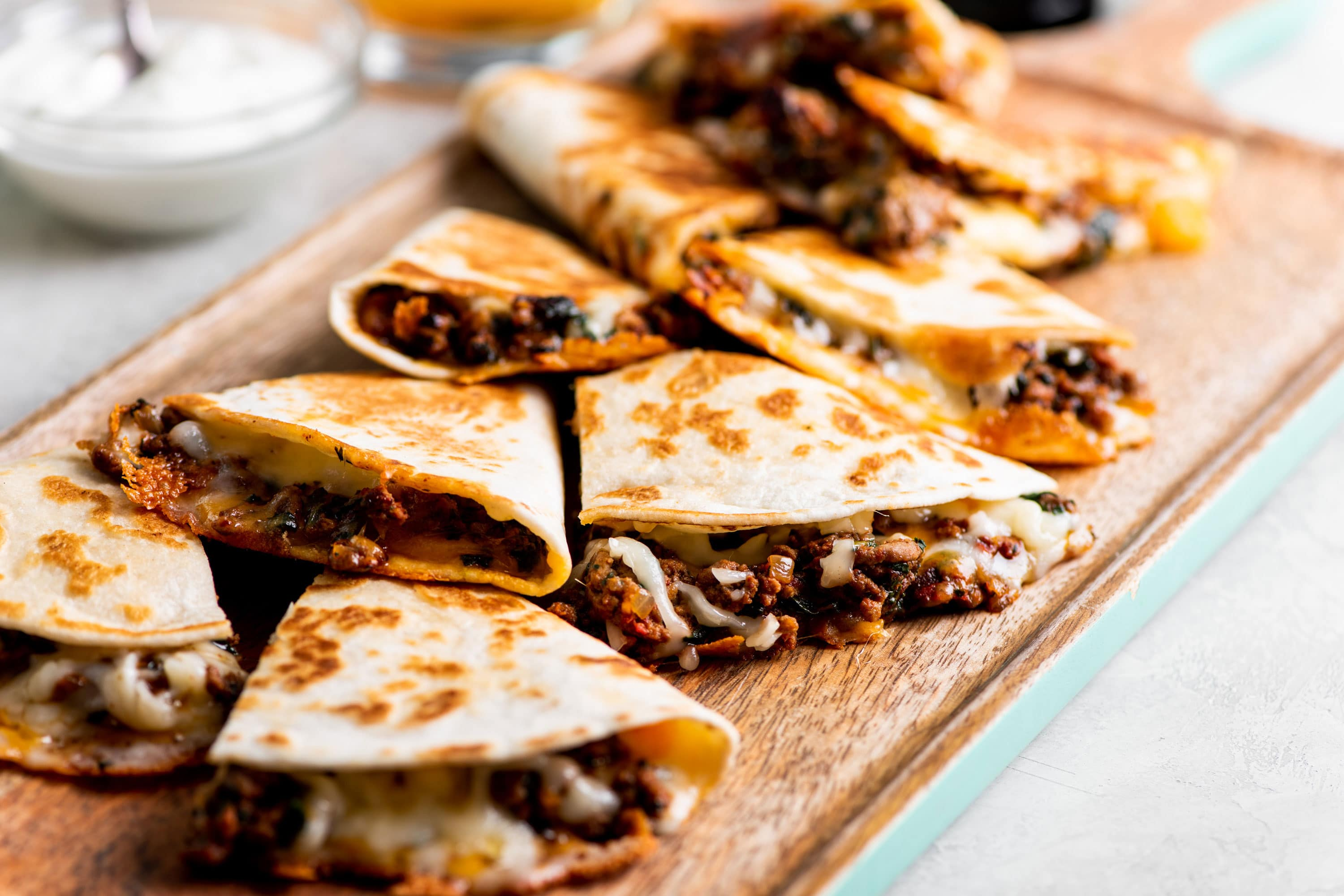 Cheesy Ground Beef Quesadillas Recipe The Mom 100