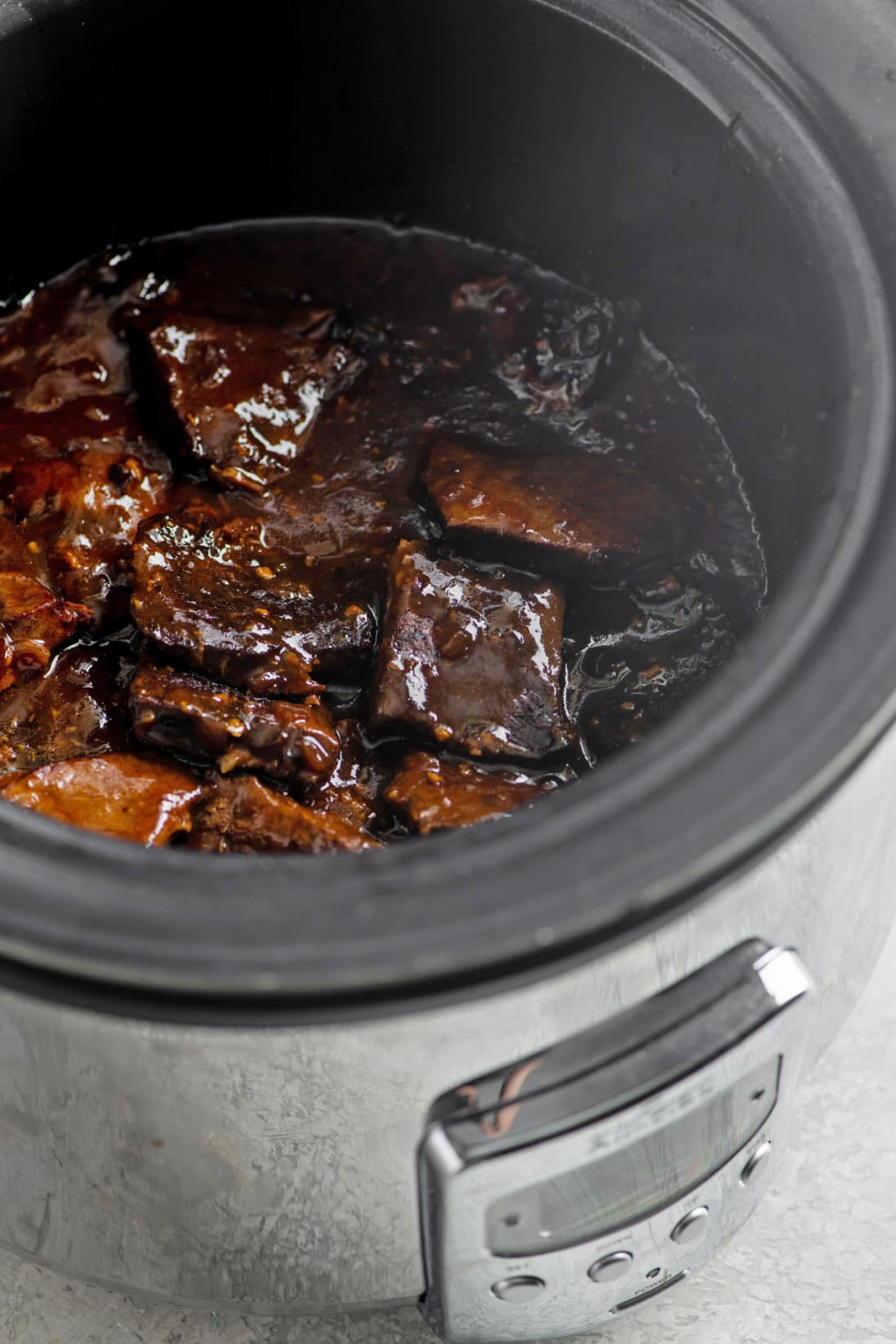 Slow Cooker Teriyaki Beef Tip Steaks
