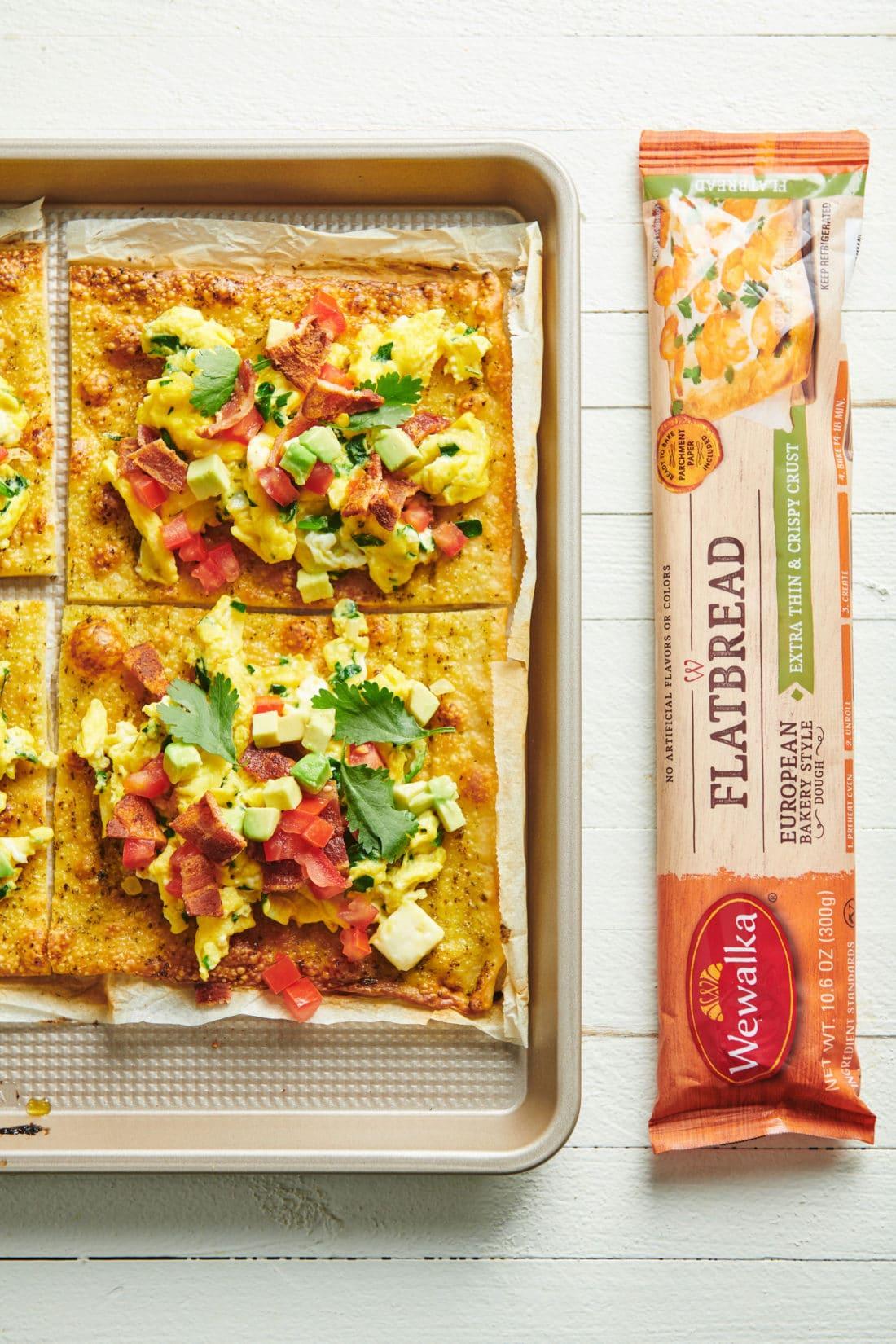 Open Faced Flatbread Breakfast Sandwiches