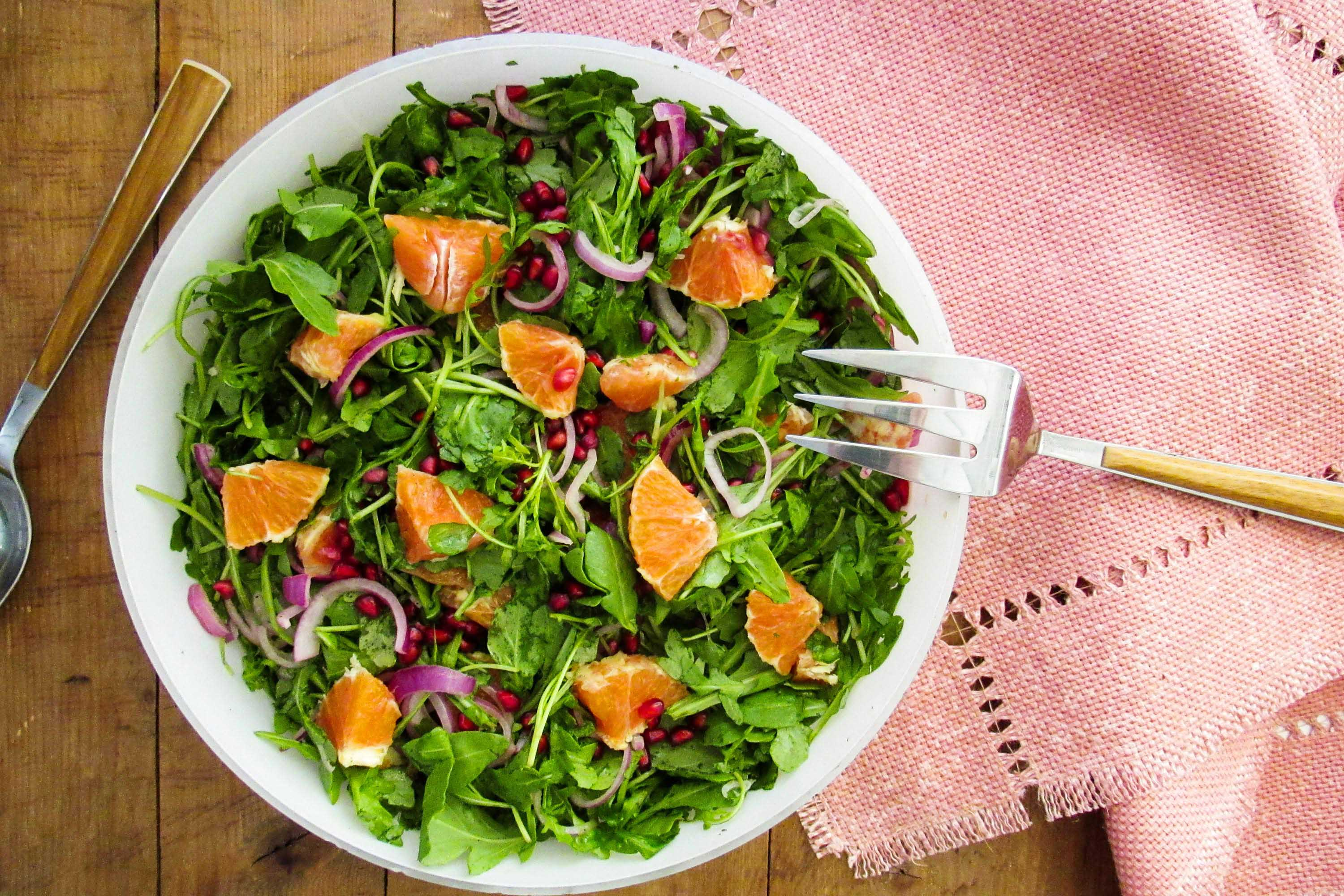 Arugula Orange And Pomegranate Salad Recipe The Mom 100
