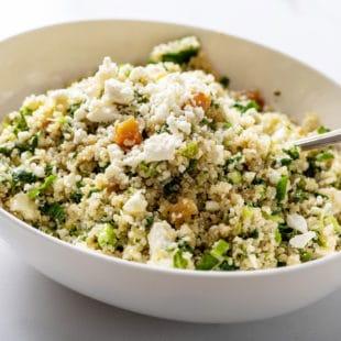 Kale Quinoa Salad with Honey, Lemon and Dijon Dressing