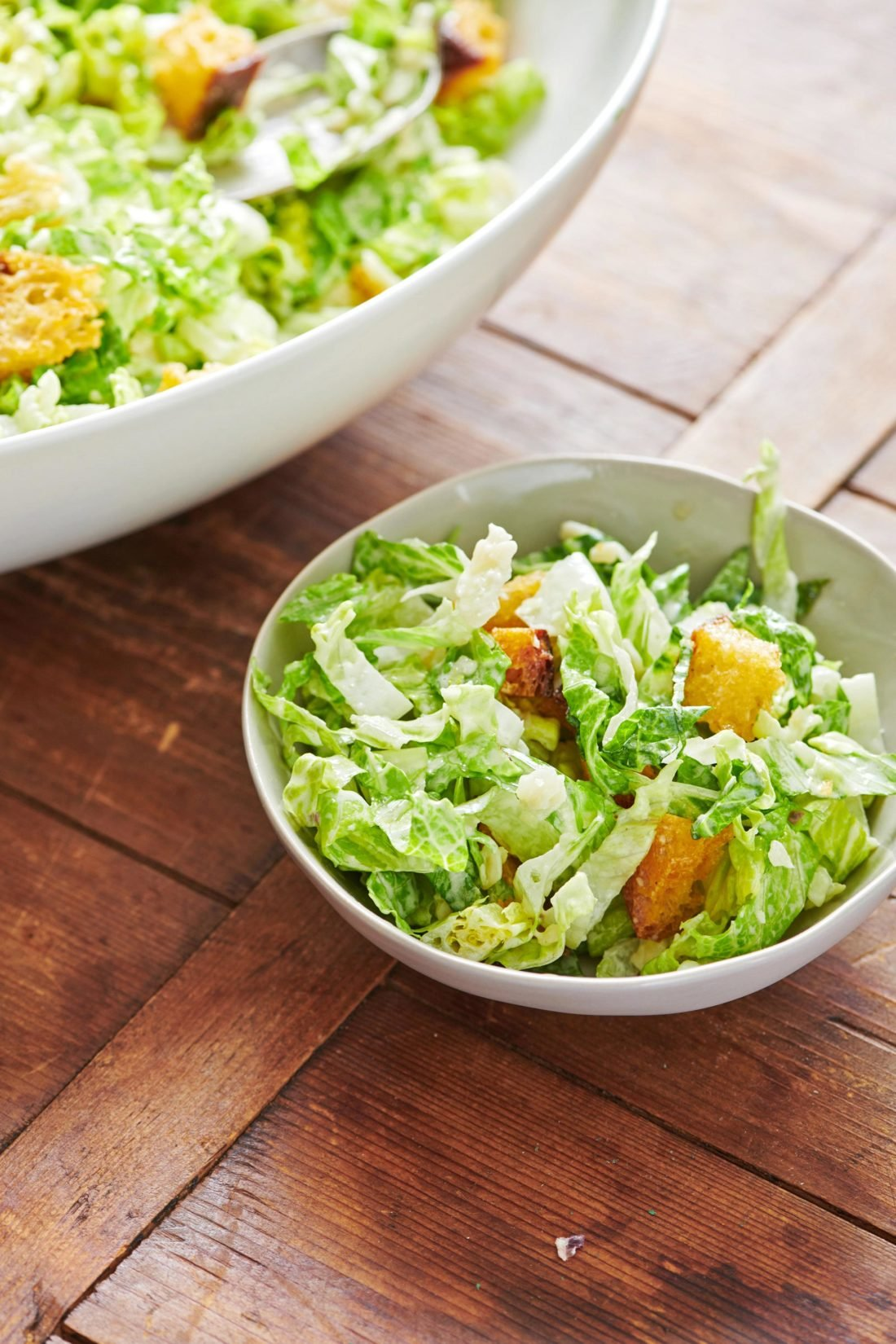 Caesar Salad with Garlicky Croutons